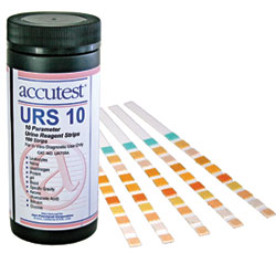 Supplies: Exam: Accutest URS 10 Urine Regent Strips  (100/bottle)